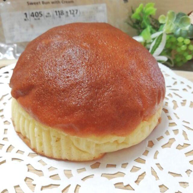 丸くて大きなクリームサンドブールパン