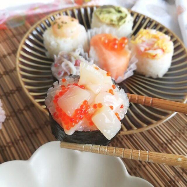 ミニサイズでかわいいはなまめ寿司
