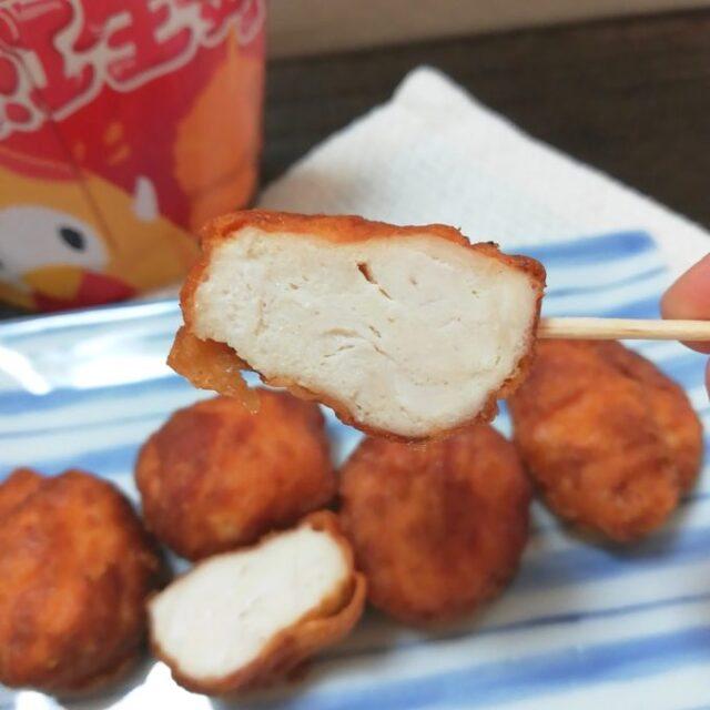 駆られる紅生姜味の断面は真っ白