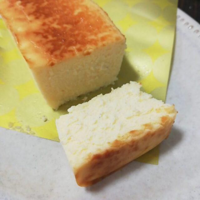 ローソン「麗溶けチーズテリーヌ」を1切カット