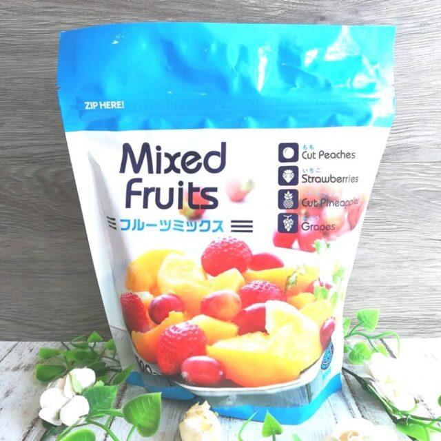 業務スーパーの冷凍フルーツミックスのパッケージ