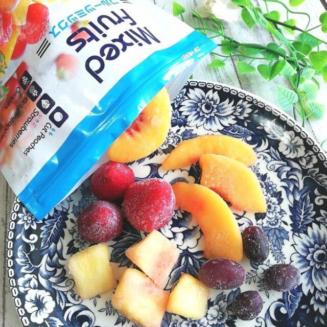 業務スーパーの冷凍フルーツミックスとパッケージ