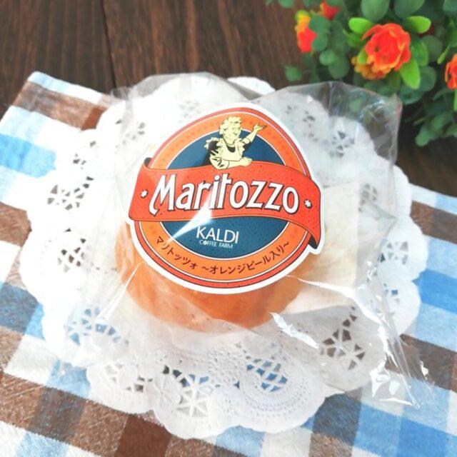 カルディのイタリア菓子パンのマリトッツオのパッケージ