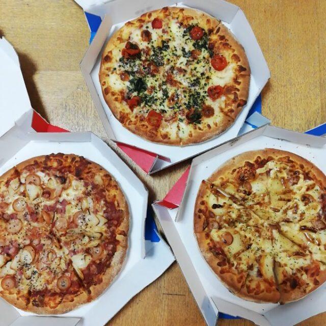 ドミノピザの水曜日クーポンで買った3種類のピザ