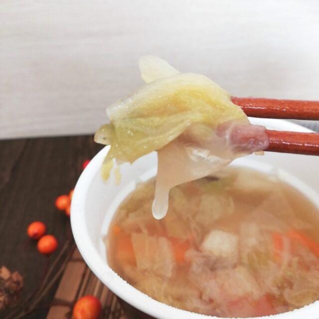 カルディのゆず香るお雑煮の白菜
