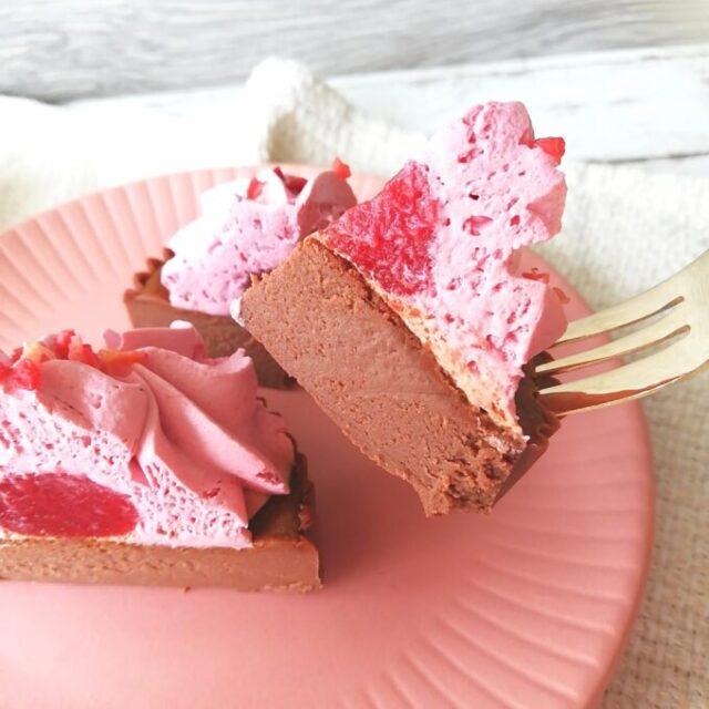 ローソンのベリベリバスショコバスク風ショコラチーズケーキを実食