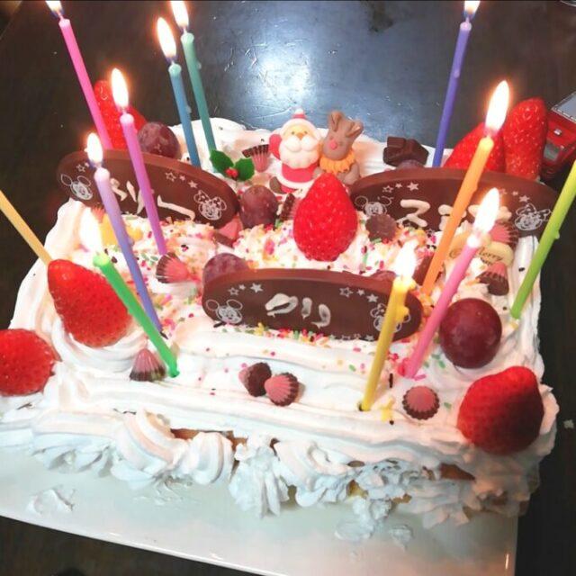 業務スーパーのアマンディホイップでつくったデコレーションケーキ