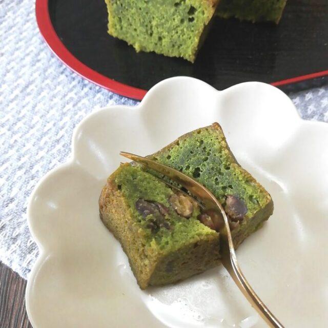 カルディの抹茶あずきケーキを温めて実食