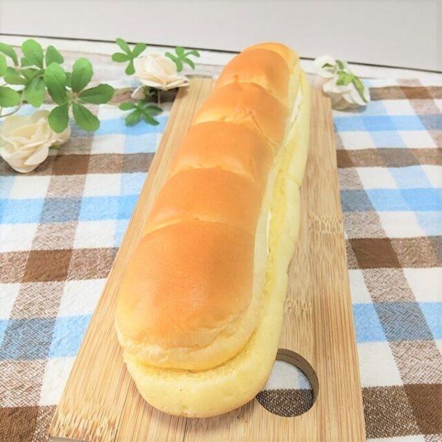 ローソンとMilkのコラボ「MILKカスタードのちぎりパン」の長さ