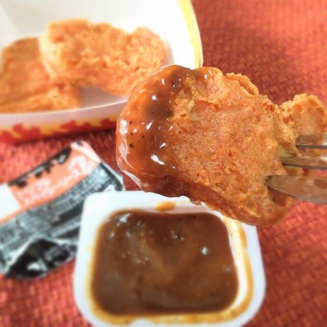 スパイシーチキンマックナゲットをトリプルスパイシーソースで実食