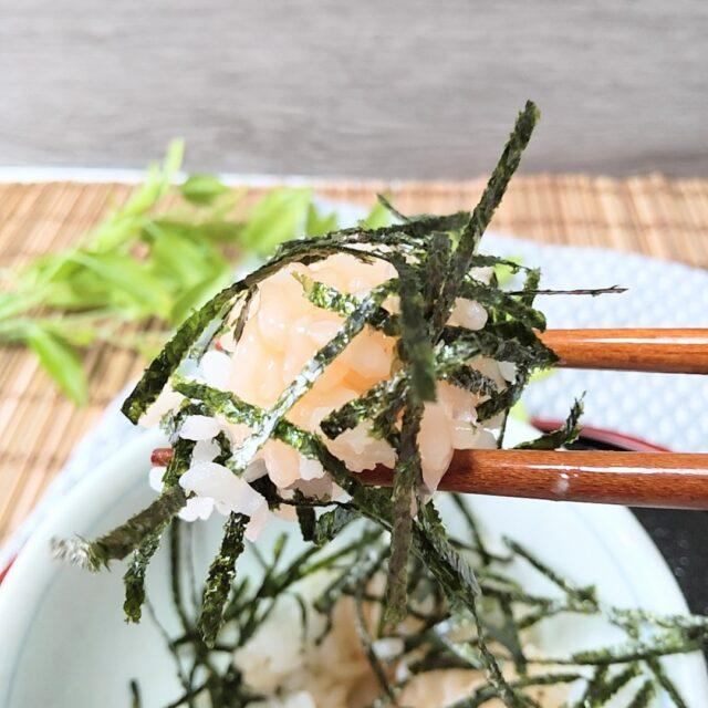カルディ「イクラのいらないイクラ丼」に刻み海苔をちょい足し