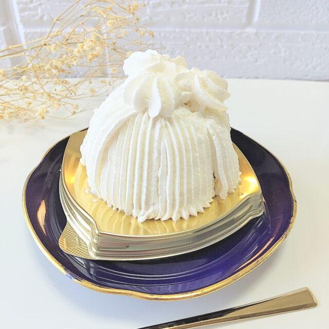 ミニストップ「ごろごろ栗の純白ケーキ」の美しいフォルム