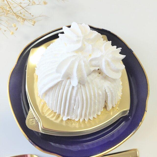 ミニストップ「ごろごろ栗の純白ケーキ」のデコレーション